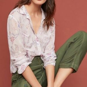 Cloth and stone button down paisley top